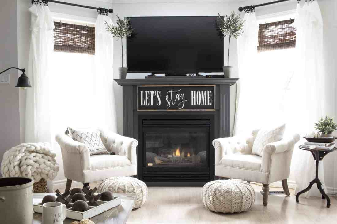 early spring 2019 fireplace