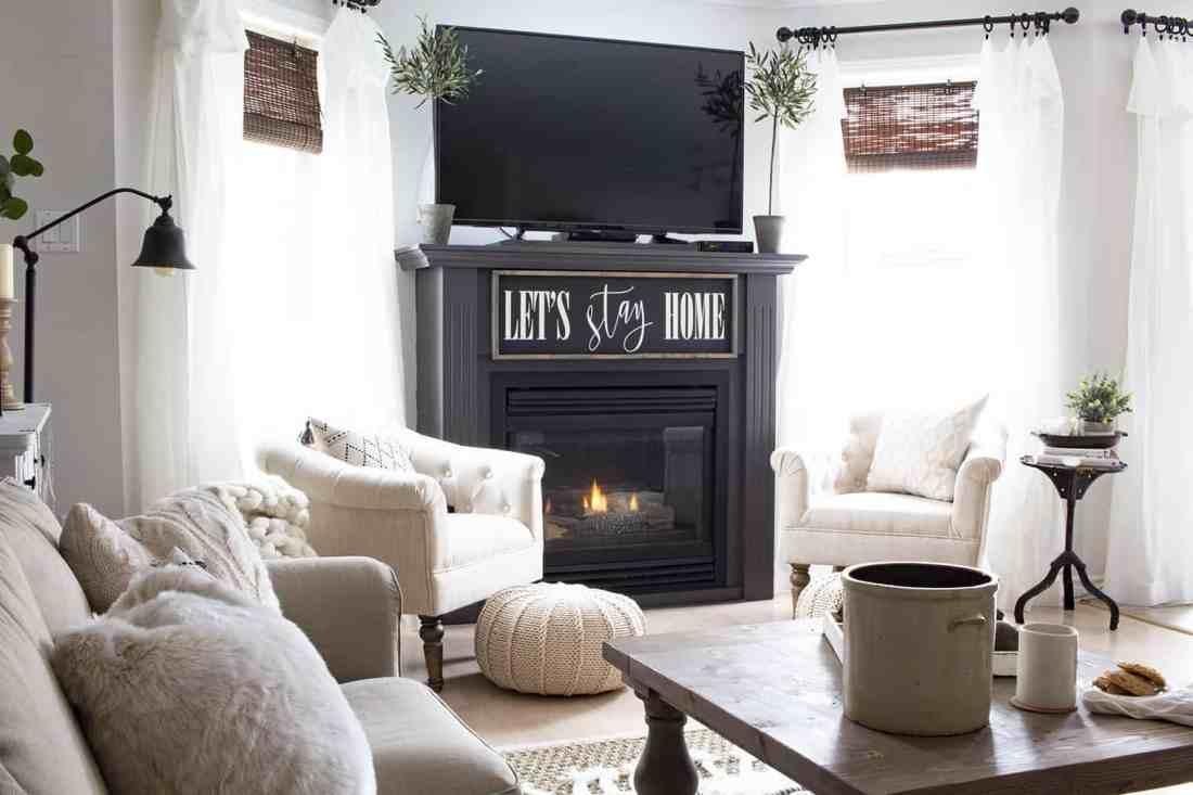 A Very Neutral Spring Farmhouse Living Room