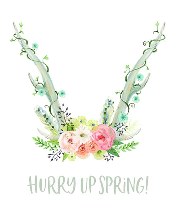 hurry up spring free printable small image link to PDF