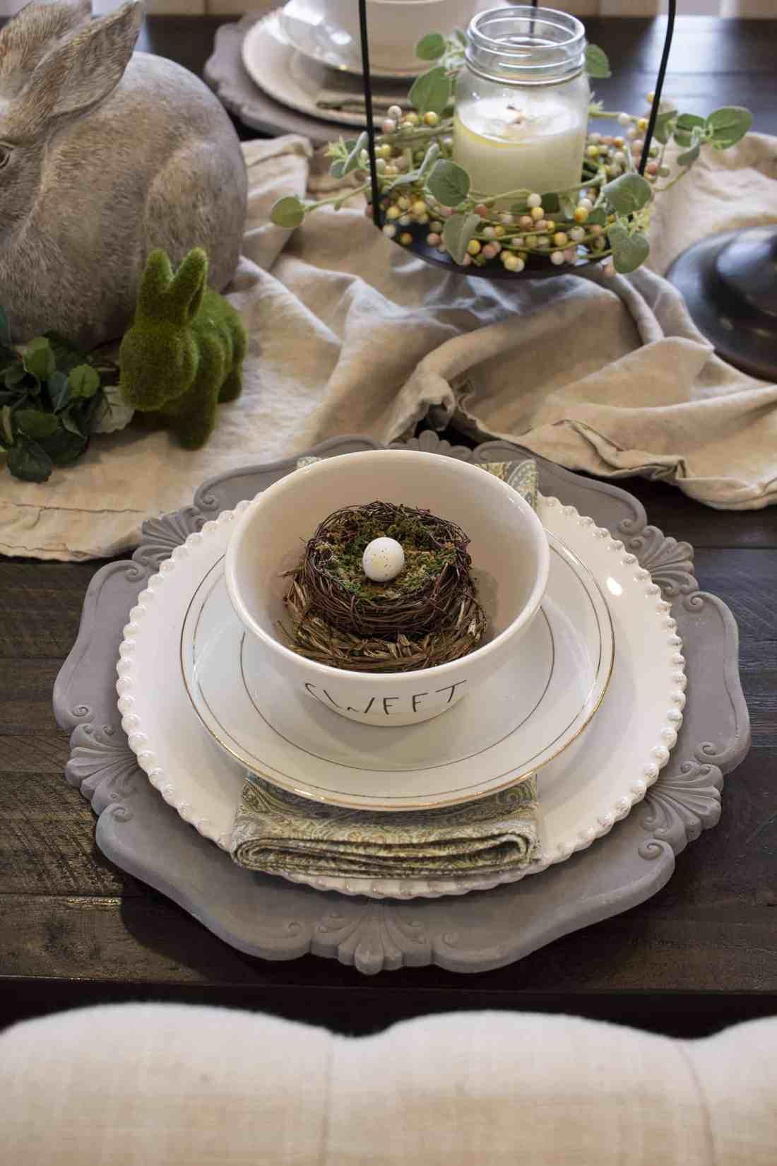 rae dunn bowls layered with china and stoneware