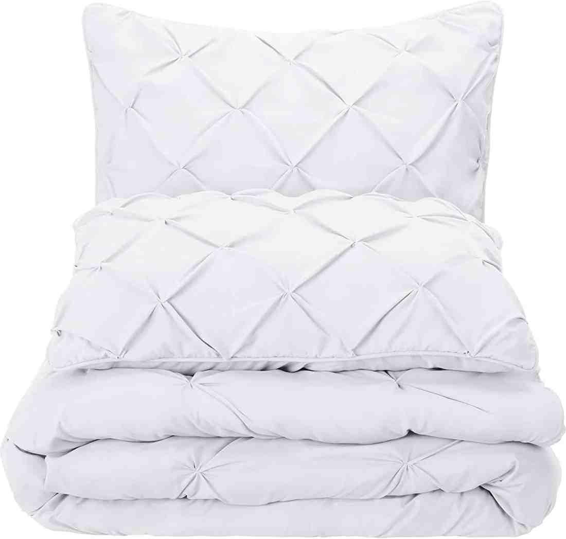 amazon basics pinch pleat comforter set