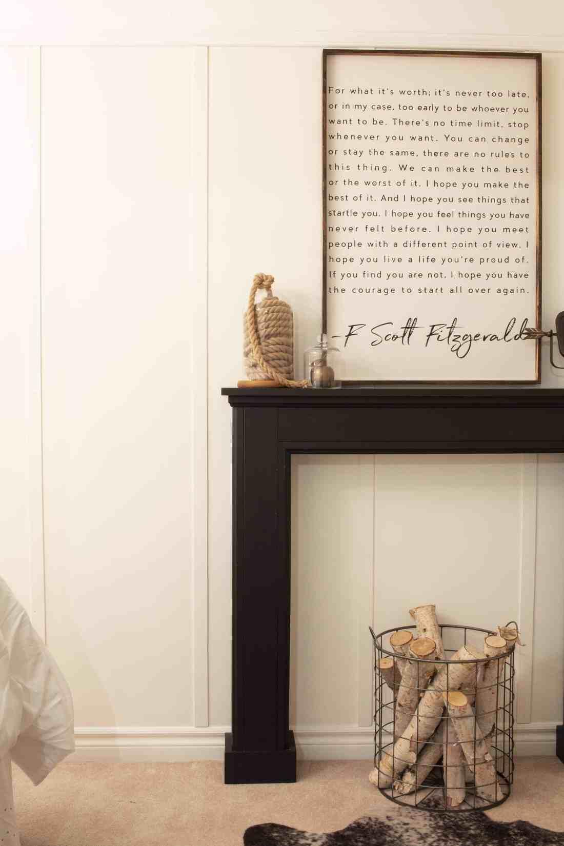 faux fireplace mantel f scott fitz art