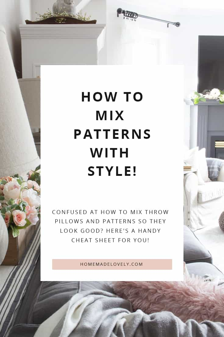 how to mix patterns of decor
