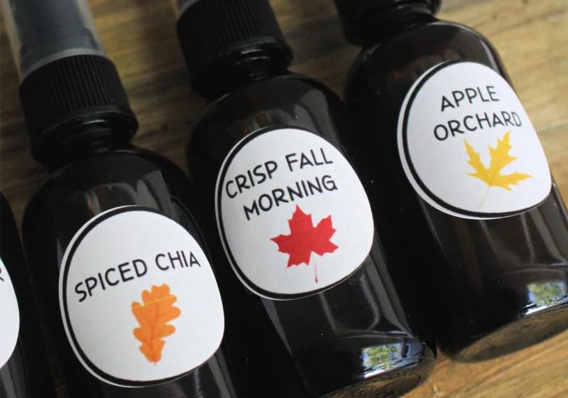 Fall Essential Oil Room Sprays DIY