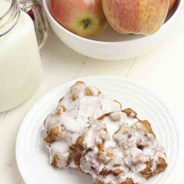 homemade gluten free apple fritters