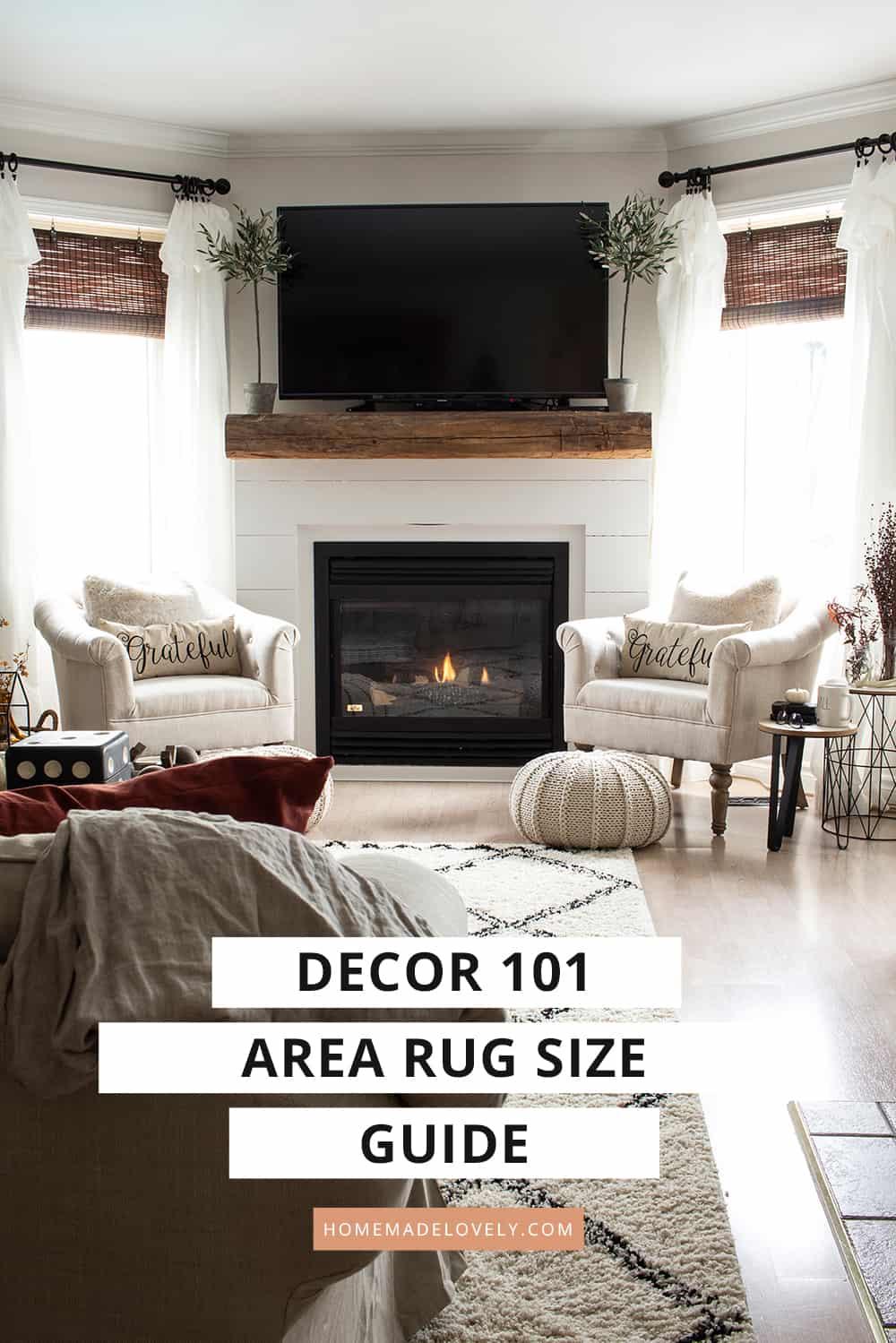 correct area rug sizes