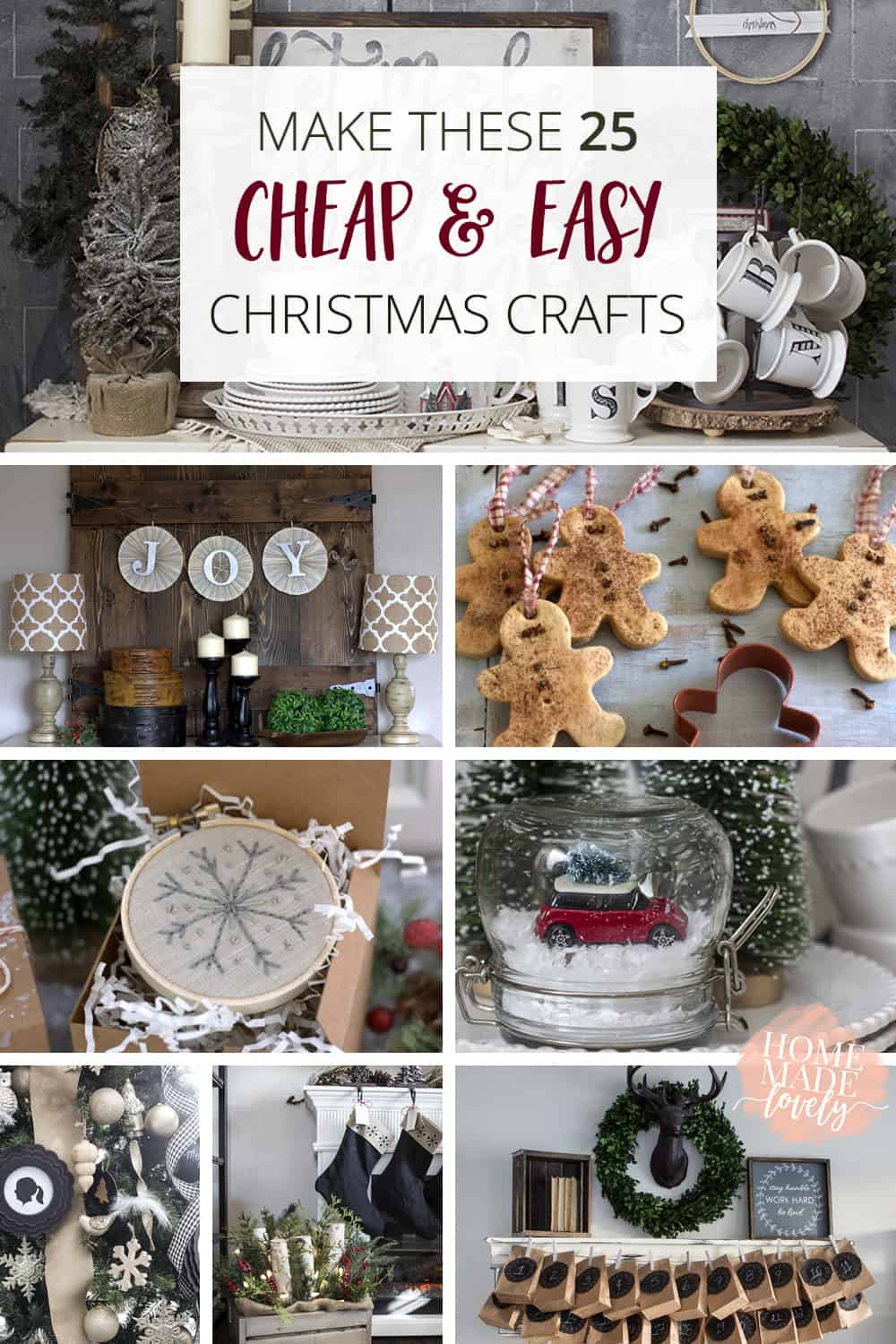 25 Cheap & Easy Christmas Crafts pin