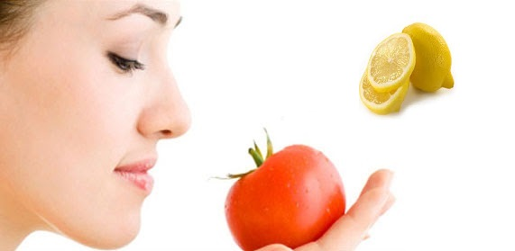 Mask with Tomatoes and Lemon for dark circles