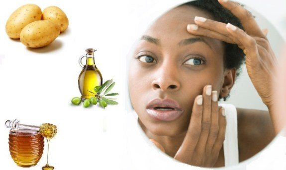Mask with honey, potatoes and olive oil for dark circles