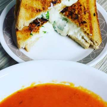 Ricotta Grilled Cheese with Tomato Soup