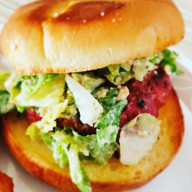 Caesar Salad Burger