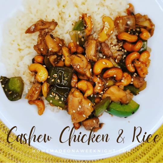 Cashew Chicken & Rice