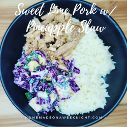 Sweet Lime Pork w/ Pineapple Slaw