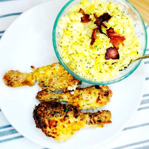 Oven Fried Chicken w/ Gruyere Mac & Cheese