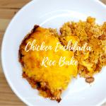 Chicken Enchilada Rice Bake