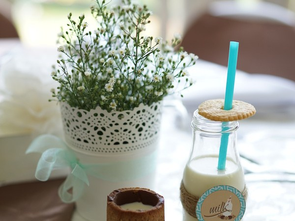 Lucas' Cookies and Milk Christening Party