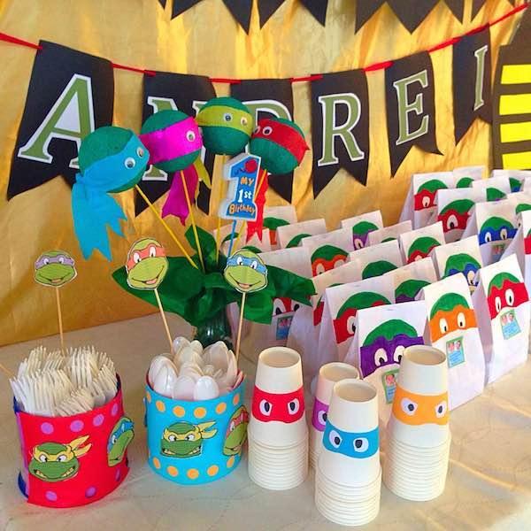 Homemade Parties DIY Party_Teenage Mutant Ninja Turtles Party_Andrei17