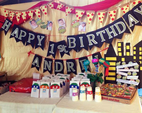 Homemade Parties DIY Party_Teenage Mutant Ninja Turtles Party_Andrei18