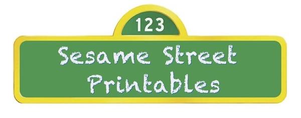 Sesame Street Party Printables