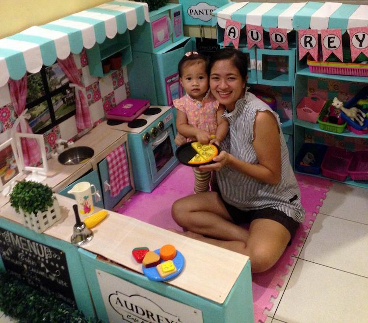 DIY Cardboard Kitchen Cafe Pantry Playset12