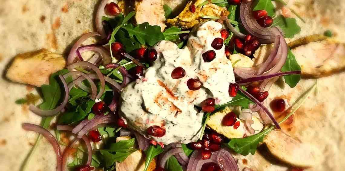 Persische Tortillas mit Ras el Hanout-Hähnchen