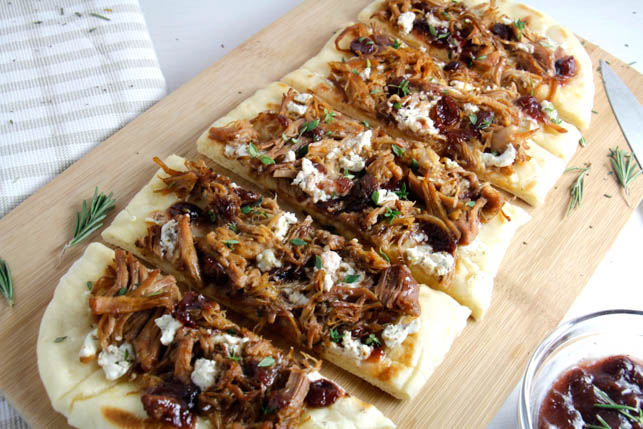 Pulled Pork and Cranberry Flatbread