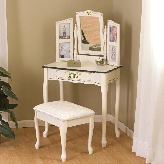 Bedroom Vanity Homemajestic. Corner Bedroom Vanity With Mirror   Bedroom Style Ideas
