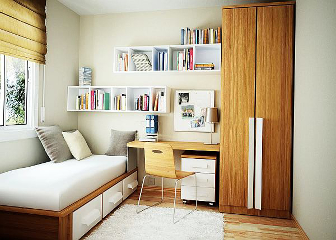Small Bedroom Storage Ideas - Small Bedroom Designs on Bedroom Ideas For Small Rooms  id=81736