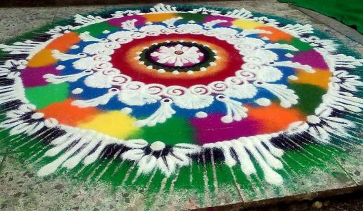 Colourful Rangoli Designs  2015