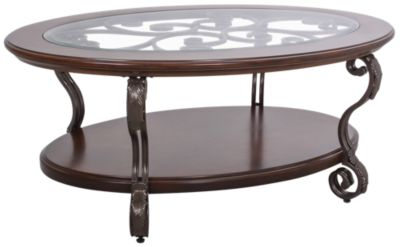 Ashley Nestor Oval Coffee Table Homemakers Furniture