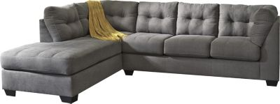 ashley maier charcoal 2 piece sectional with sleeper