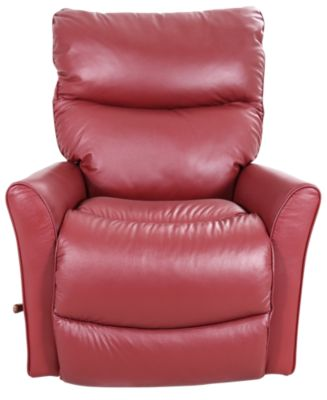 La Z Boy Rowan Red Leather Rocker Recliner Homemakers