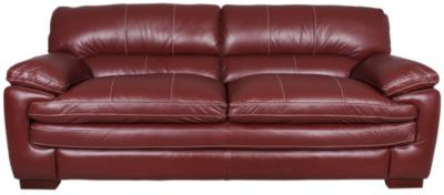 la z boy dexter 100 leather red sofa