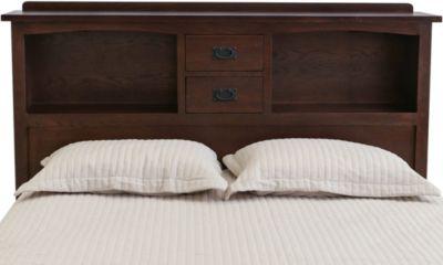 surewood oak chocolate queen bookcase headboard
