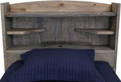 trend wood driftwood twin headboard