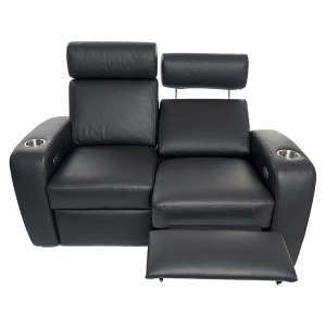 Palladio Napoli Love Seat Home Cinema Seating Black Reclined