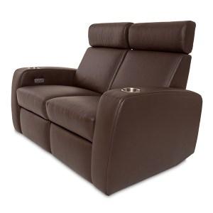 Palladio Napoli Love Seat Home Cinema Seating Brown Side