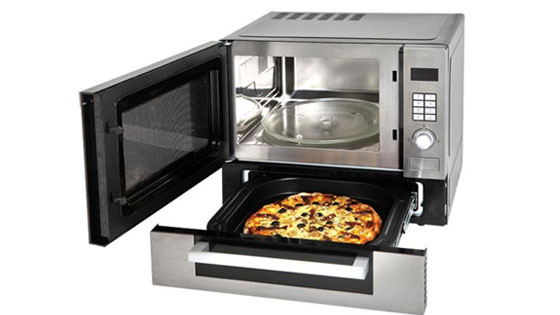 microwave with pizza oven golf course