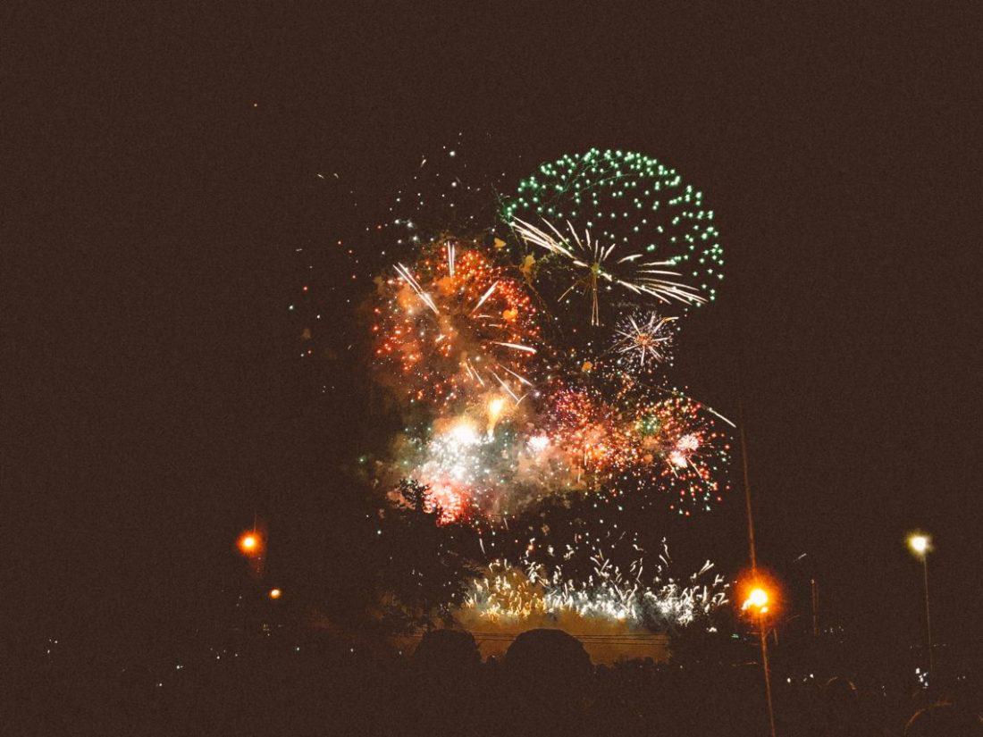 feux d'artifices