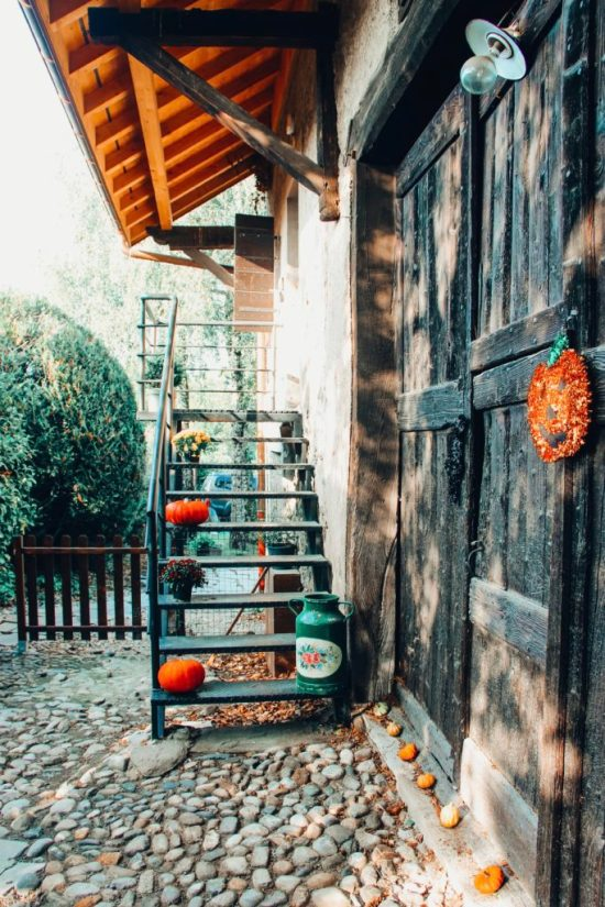 Décoration automne maison extérieur