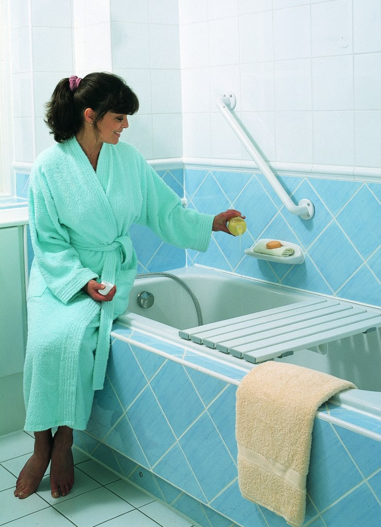 Lady bathrobe, Merlin bath bench