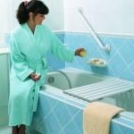 Lady bathrobe, Merlin bath bench