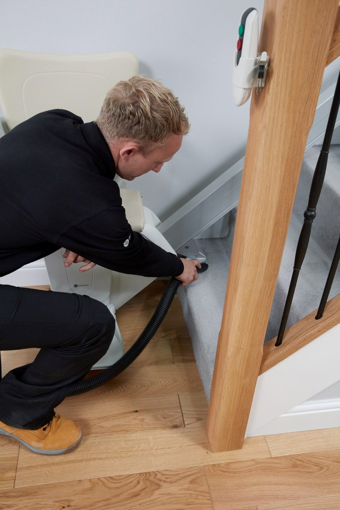 Handicare Stairlift, engineer, fitting