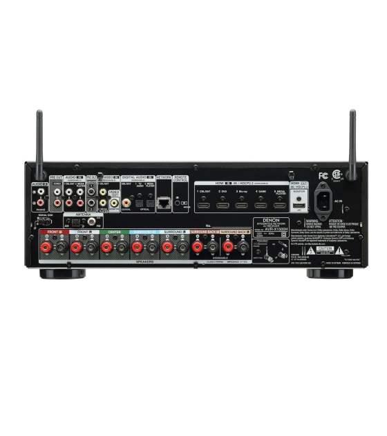 Denon AVR-X1500H házimozi erösitö csatlakozások