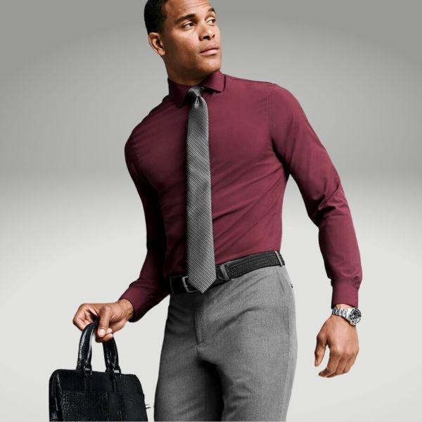 Peças básicas do guarda-roupa masculino - calça alfaiataria - Único