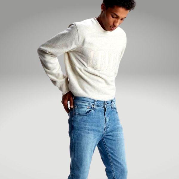 Peças básicas do guarda-roupa masculino - jeans - Único
