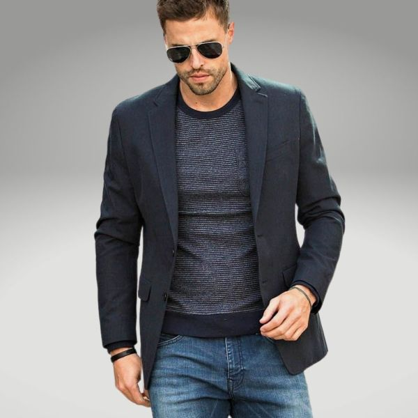 Peças básicas do guarda-roupa masculino - paletó - Único