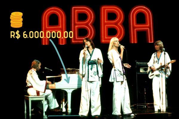 Único - O mundo bizarro dos leilões pop e seus preços milionários - piano do Abba