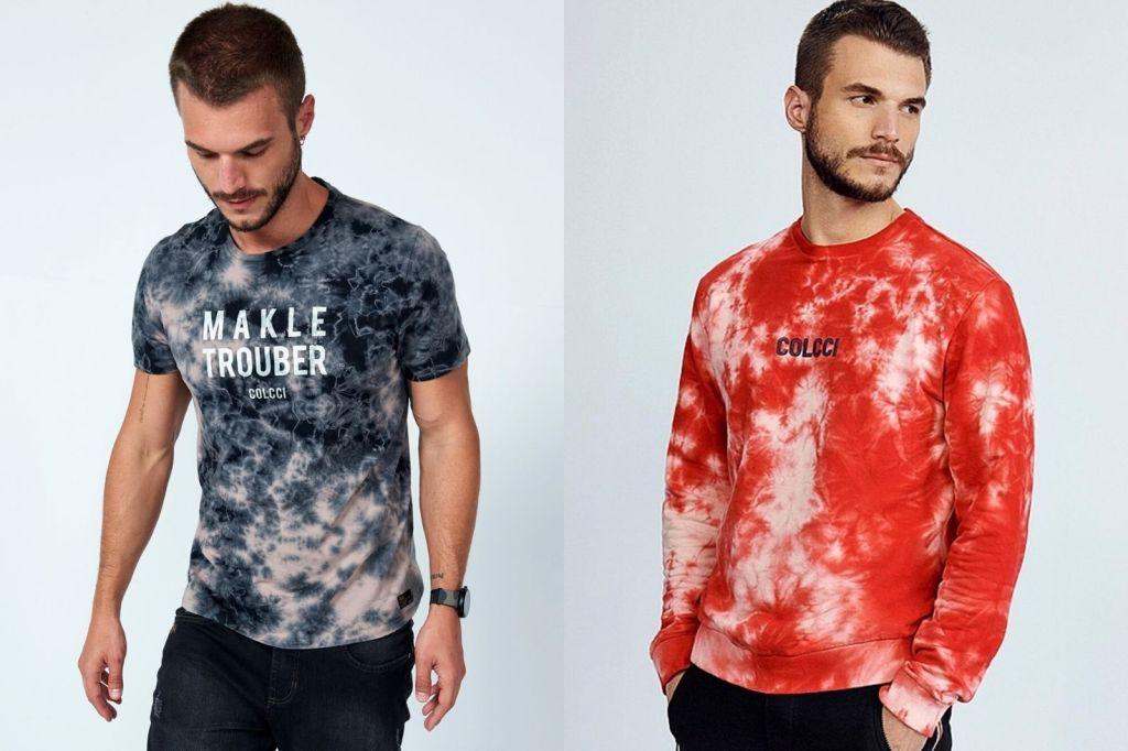 Único - Moda tye dye - moda masculina - Colcci
