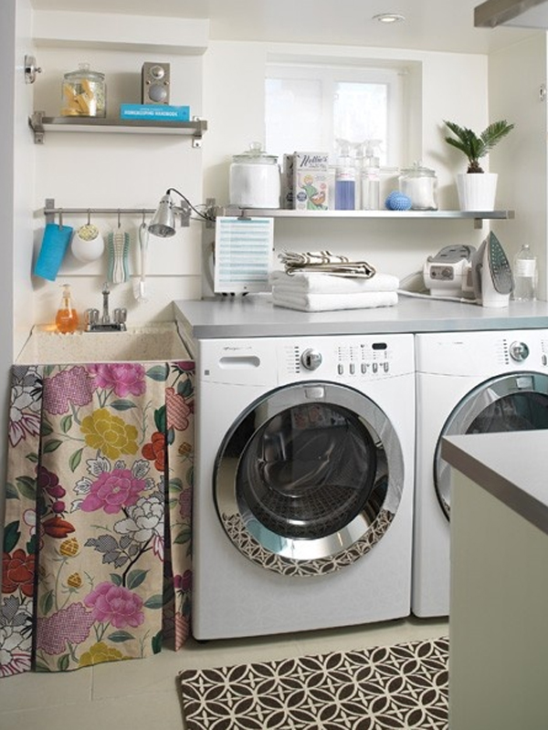 20 Small Laundry Room Ideas : White and Clean Solutions ... on Laundry Decoration  id=48294